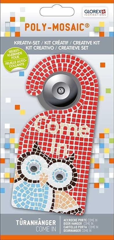 Glorex Poly Mosaic Creative Set Door Hanger Come in, Plastic, red, 24.5?x 11.6?x 1?cm