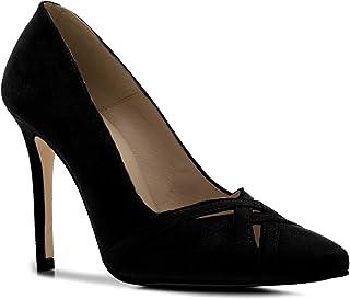 Zapatos de Ante Muy Elegantes para Mujer Tallas peque/ñas y Grandes 32//35-42//45 Acabado en Punta Fina y Tacones Anchos AM5476 Andres Machado