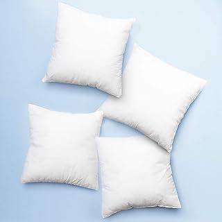"Clara Clark White Insert Hypoallergenic Square Decorative Throw Pillow Cushion Stuffer Forms Couch Sham, 20""x20"", 4 Pk"