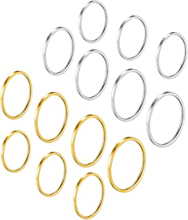7-28 pcs 1MM Midi Ring,Midi Knuckle Stacking Rings, Minimalist Ring, Simple Band Set for Women/Girl,Gold/Silver/Rose Gold/Black Color, Comfort Fit Size 4-10 (with Gift Box)