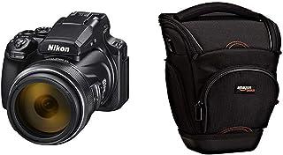 Nikon COOLPIX P1000 - Cámara compacta Tipo Bridge (16 MP Pantalla de 3.2) Color Negro & AmazonBasics - Funda para cámara de Fotos réflex Color Negro