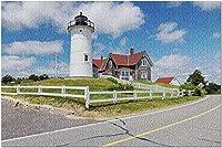 HDウッズホール ケープコッド マサチューセッツ-ノブスカ灯台9017431(プレミアム19ピース 19x27) 0110pintu-164790U6K2W (Color : Photo 8)