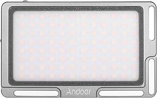لوحة إضاءة فيديو LED محمولة من Andoer ببطارية داخلية 2800 مللي أمبير في الساعة مع شاشة أو ليد 1/4 بوصة، ثقب لولبي 3500K-57...
