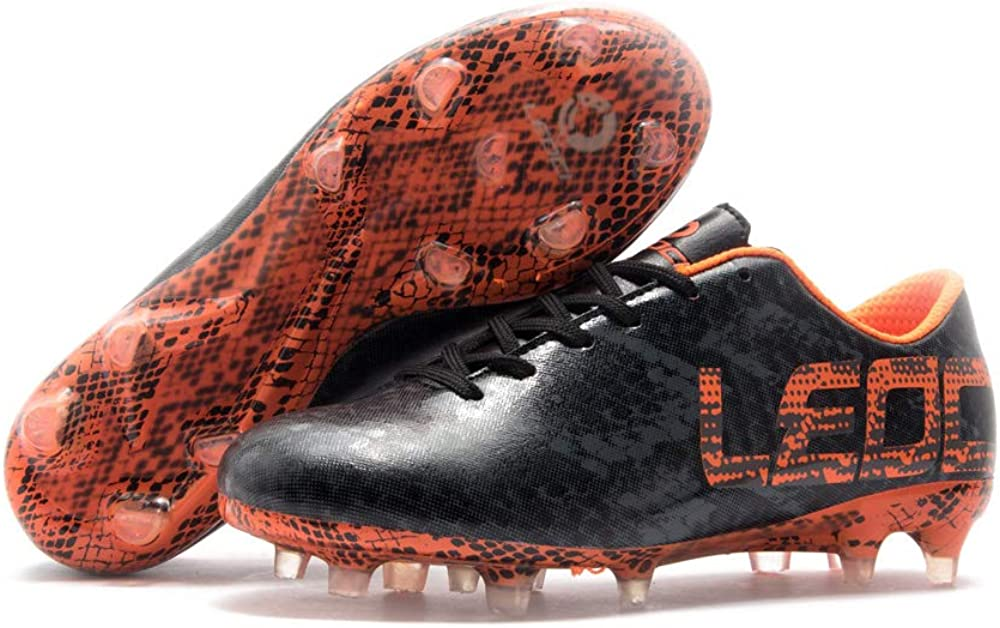 LEOCI Performance Soccer Shoes Men and Boy Soccer Shoes Outdoor Soccer Cleat