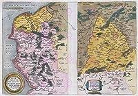 地図ORTELIUS 1579 CALAIS VERMANDOISフランスレプリカのポスター印刷PAM1157