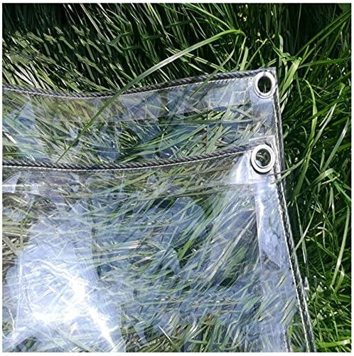 LIUXR Abdeckplane Transparente mit Ösen, 0,3mm Klare wasserdichte PVC Plane, Vielseitige Gemüseabdeckung für Pavillons Pavillon Terrassen Windschutz,A_1.2x2m