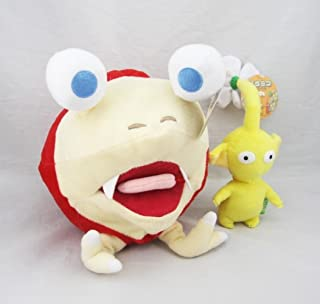 D-Khaleesi Pikmin Bulborb Chappy Yellow Flower Stuffed Plush Doll Animal Toys Collectable Gift Set of 2