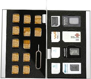 Myymee 4 Standard SIM Card Holders + 4 Micro Sim Card Holders+ 12 Nano Sim Card Holders,Metal Aluminum Alloy SD Card Holde...