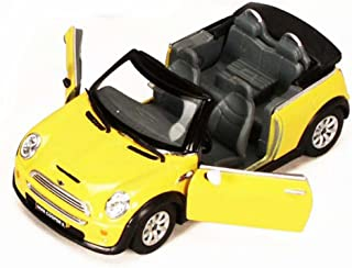 Mini Cooper S Convertible, Yellow - Kinsmart 5089D - 1/28 scale Diecast Model Toy Car (Brand New, but NO BOX)