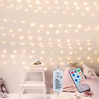 Minetom USB Fairy Lights with Power Adapter and Remote, 66Ft 200LED Waterproof Twinkle Lights with 8 Lighting Modes and Ti...