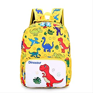 Backpack Children's Cartoon Bag, Light Reduced Dinosaur Children Backpack, Outdoor Wear-Resistant Light Student Backpack 30x15x25cm Red (Color : Yellow, Size : 30x15x25cm)