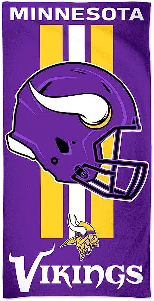 2021 WinCraft NFL Minnesota Max 59% OFF Vikings Towel30x60 Colo Beach Towel Team