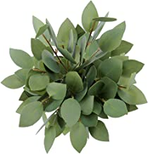 Greentime 8 Pack Artificial Greenery Stems Faux 13 Inches Greenery Eucalyptus Heart-Shaped Leaves for Bridal Wedding Bouqu...