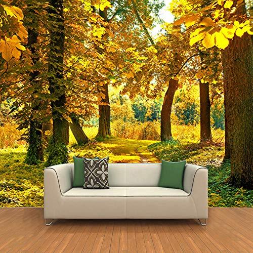Maple Leaf Fotobehang, herfstbos, 3D-muur, natuur, foto, wallpaper, woonkamer, eetkamer, romantische binnendecoratie 500cm (W) x 320cm (H)