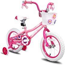 """JOYSTAR 12 14 16 Inch Kids Bike with Training Wheels for 2-7 Years Old Girls 32"""" - 53"""" Tall,..."""