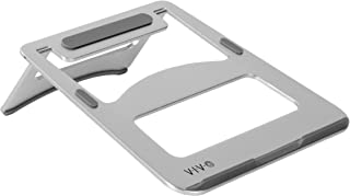 VIVO Aluminum Portable Folding Ultra-Slim Laptop Notebook Desk Stand   Ergonomic Tilting Tablet Riser Holds Screens up to 15 inches (STAND-V000J)