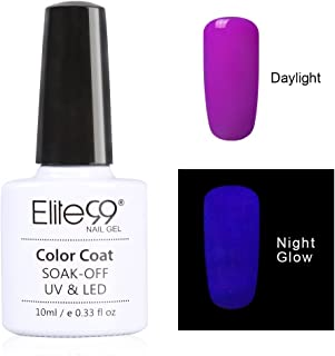 Qimisi Night Glow In The Dark Gel Nail Polish Soak Off Uv Led Luminous Gel Polish Candy Colour Fluorescent Nail Art 10Ml For Club, Festivals Or Night Out 6706
