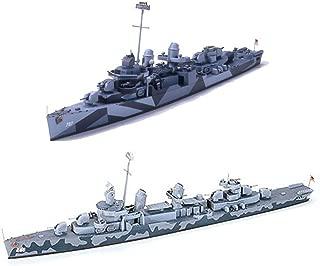 2 Tamiya Ship Models of US Navy Destroyers - DD-797 Cushing and DD445 Fletcher (Japan Import)