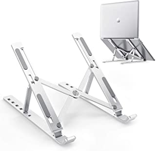 NSXEEN A+ Quality Adjustable Aluminum Laptop Computer Stand, Tablet Stand, Ergonomic Foldable Portable Desktop Holder Smar...