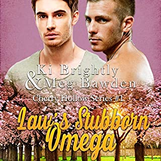 Law's Stubborn Omega audiobook cover art
