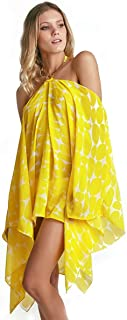 Kaftan Empress Brasil Bardot Estampa Leblon Amarelo