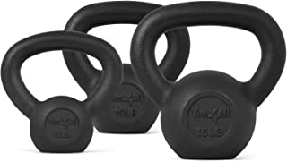 Yes4All Cast Iron Kettlebell Weight Sets – Weights Available: 5, 10, 15, 20, 25, 30 lbs and Adjustable Kettlebell Handle