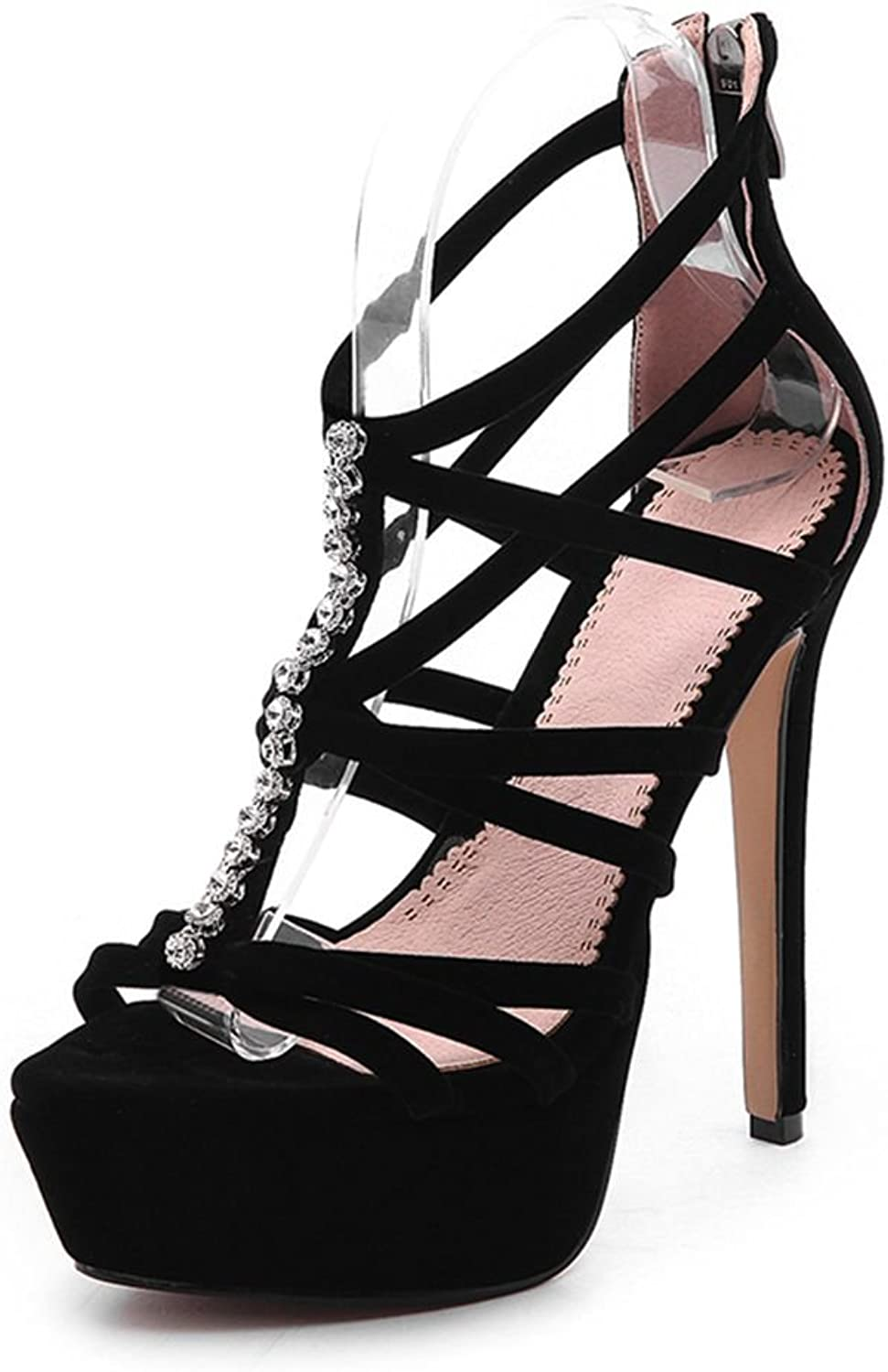 SaraIris Wowen Gladiator-Sandals Strap Platform Sky High Heels for Summer