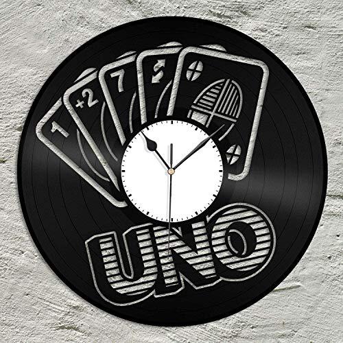 UNO Game Vinyl Rekord Retro Wanduhr Einzigartiges Geschenk Neues Jahr Weihnachten Geburtstagsgeschenk Persönlichkeit Kreative Home Design Wanddekoration