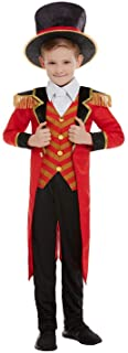 Smiffys 51021L Deluxe Ringmaster Costume, Boys, Red, L - Age 10-12 years