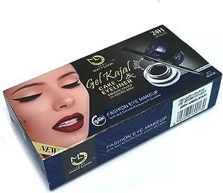 MATTELOOK Gel Kajal and Cake Eyeliner Smudge Proof, 14.5gm (Jet Black)