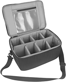 Koolertron Camera Case DSLR Camera Insert Bag Purse Universal Liner Lens Pouch Partition Protective Cover Waterproof Sleeve for Cannon/Nikon/Sony (Black)