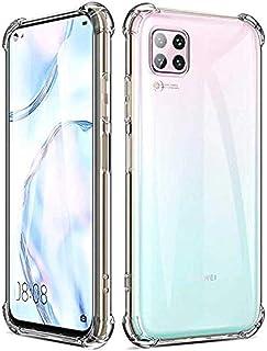 Zore Huawei P40 Lite Kılıf Zore Nitro Anti Shock Köşeleri Çıkıntılı Koruyucu Silikon,Şeffaf