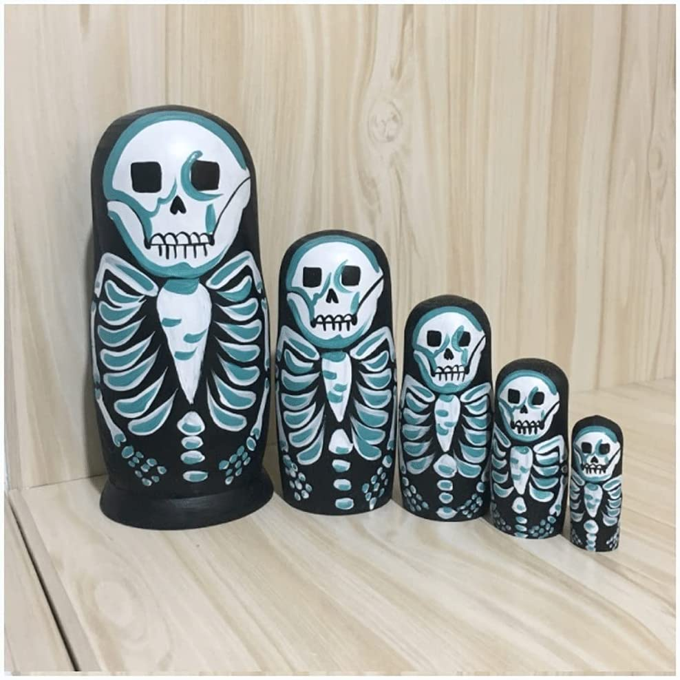 Russian Nesting Doll The Nightmare Black Long Beach Mall Bargain sale Christmas Scary Before