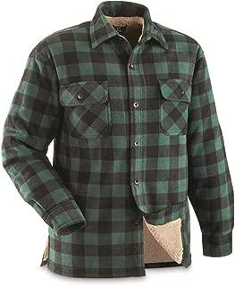 Mens Sherpa Lined Fleece CPO Shirt