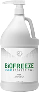 Biofreeze Professional Pain Relief Gel, 1 Gallon Pump, Green
