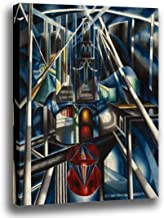 Canvas Print Wall Art - Old Brooklyn Bridge- by Joseph Stella - Giclee Prints Stretched in Gallery Wrap Style with Mirrored Edges - 14x16 inch