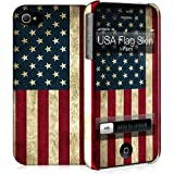 i-Paint Hard Case with Skin for iPhone 4/4S - USA Flag