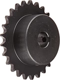 "Tsubaki 35B25FJ Finished Bore Sprocket, Single Strand, Inch, #35 ANSI No., 3/8"" Pitch, 25 Teeth, 5/8"" Bore"