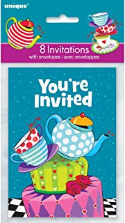 Mad Hatter Tea Party Invitations, 8ct
