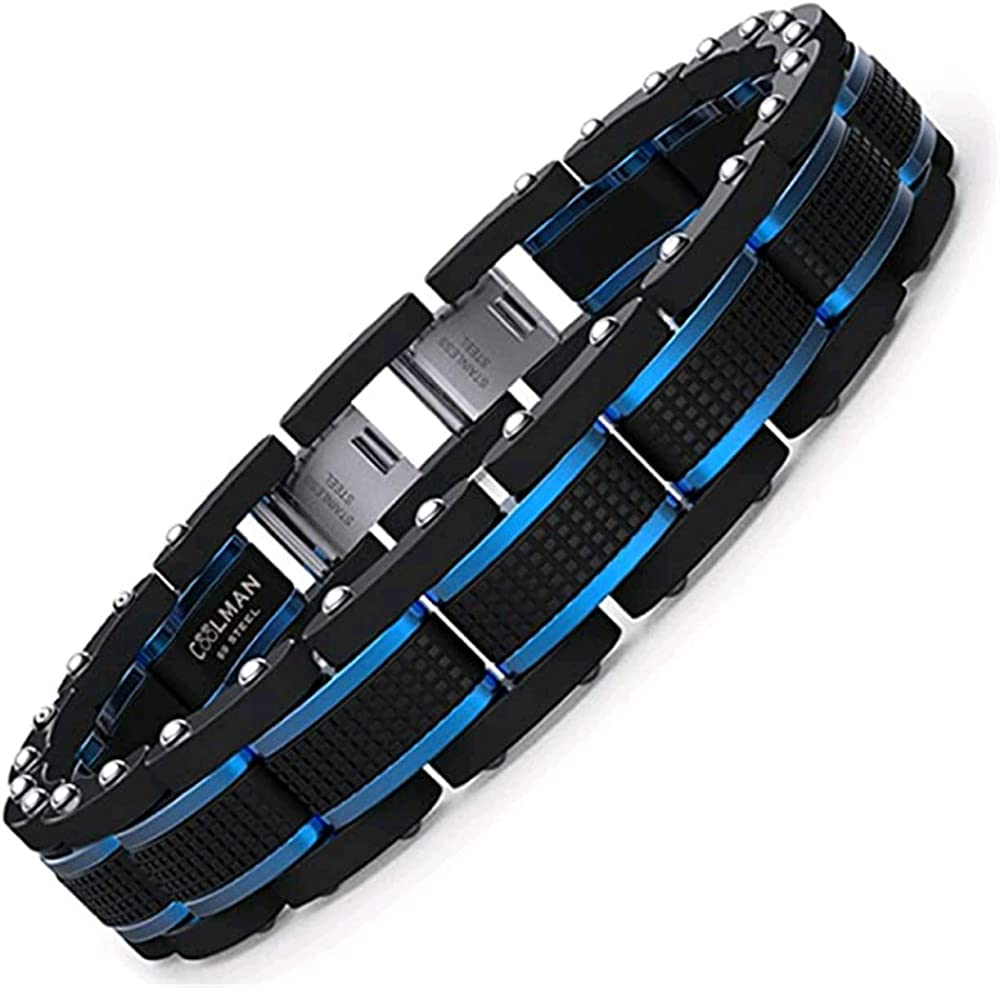 Coolman bracciale per  uomo acciaio inossidabile 316l CMSTB-2014-194-Y