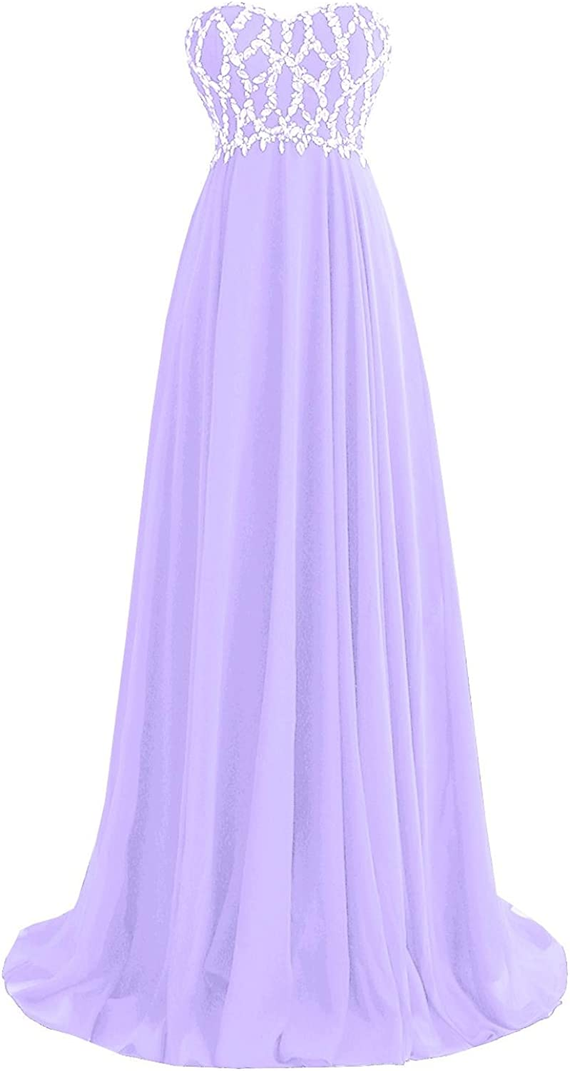 ORIENT BRIDE Long Beaded Prom Evening Dress With Crystals