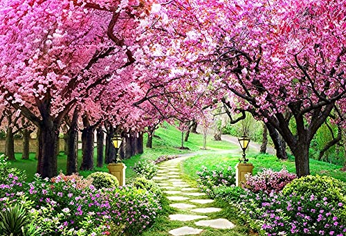Fondo de fotografía Flores de jardín de Primavera Hermoso Paisaje Natural Boda Niños Telón de Fondo Foto Teléfono Estudio fotográfico A3 10x7ft   3x2.2m