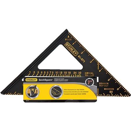 STANLEY Carpenter Square, Premium Quick Square Layout Tool, 7-Inch (46-071)