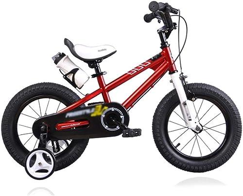 ofreciendo 100% Bicicletas Bicicleta para Niños con Rueda Auxiliar Triciclo Equilibrado Equilibrado Equilibrado Boy Girl Puzzle Walker Bicicleta con Pedales para Niños Triciclo para Niños Regalo para Niños (Color   rojo, Talla   14 Inches)  60% de descuento