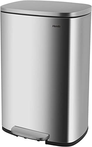 Homfa Kitchen Trash Can, 13.2 Gallon(50L) Fingerprint Proof Stainless Steel Garbage Can with Removable Inner Bucket a...