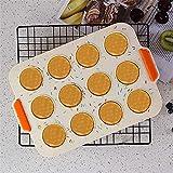 Mini-Muffinform, Silikon-Muffinform - kleine Kuchenform, 12 Muffinformen mit Antihaftbeschichtung,...