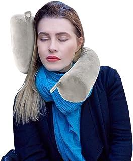ShuBel Comfy - Almohada de viaje con memoria de espuma, almohada de viaje, almohada de viaje lavable con función de apoyo para el cuello para avión, coche, tren