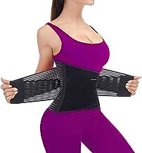 SURPOWN Tailletrainer voor vrouwen en mannen, tailletrainer om af te vallen, dubbel verstelbaar, vetverbrandingsriem voor ...