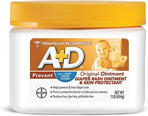 A+D Original Diaper Rash Ointment, Skin Protectant With Lanolin and Petrolatum, (Packaging May Vary) Cream 16 Ounce (...