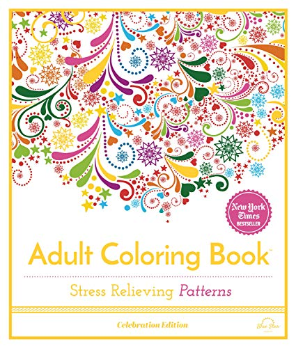 Stress Relieving Patterns: Adult Coloring Book, Celebration Edition